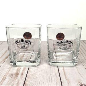 JACK DANIELS No. 7 Square Rocks Glass Cup Set